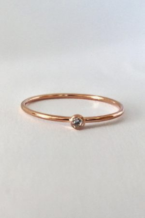 Dainty Diamond Ring in 9ct Rose Gold