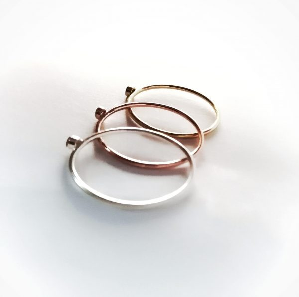 3 tiny 2mm mixed metal stacking rings top back angle