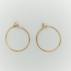 Simple Gold Hoop Earrings, Small