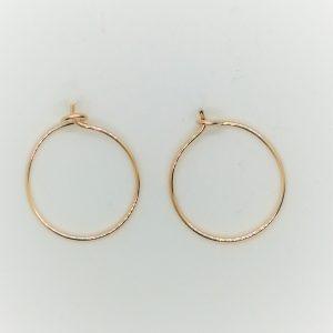 Simple Gold Hoop Earrings, Small