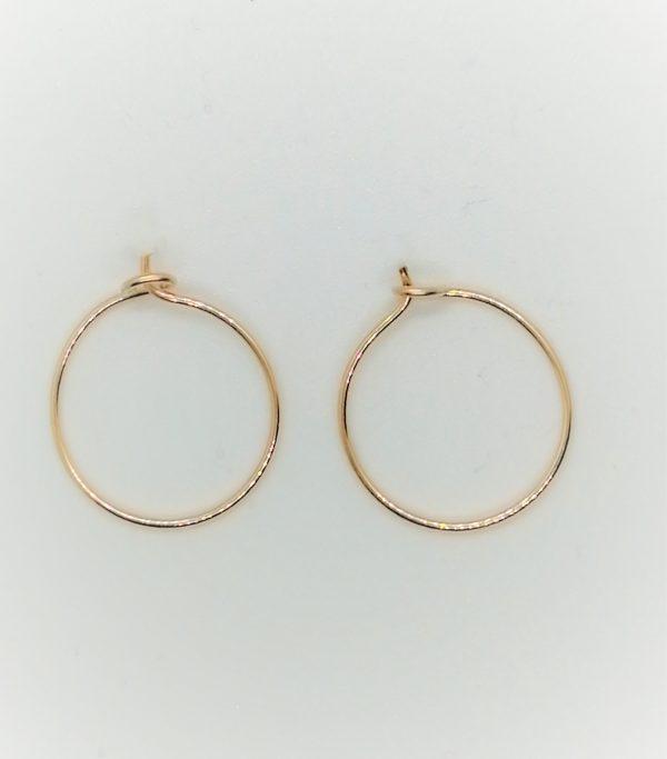 gold hoop earrings small