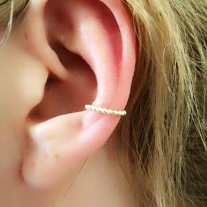 Gold Ball Design Ear Cuff