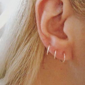 Silver Infinite Hoop Earrings – choose your size