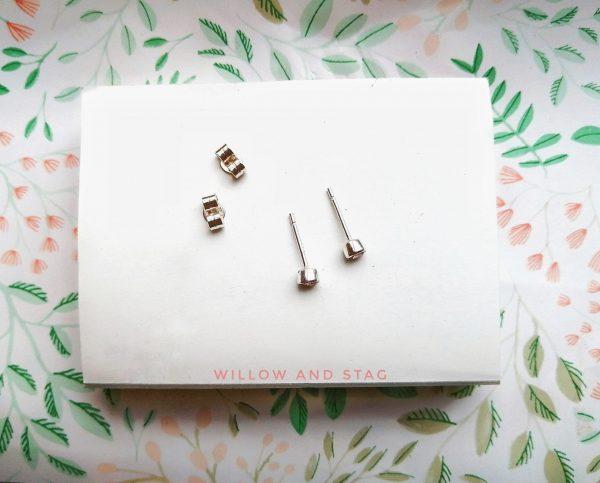 3mm earrings september flatscape