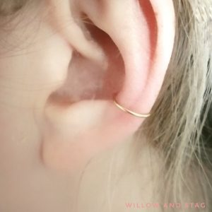 gold conch hoop smooth