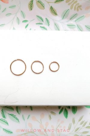 Extra Thin Single Hoop – ears/ nose/ body