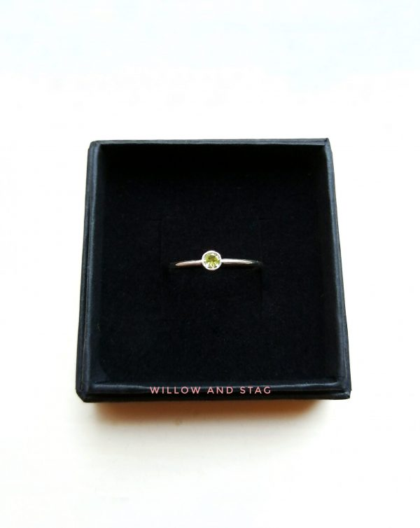 presentation box 3mm sterling silver ring by willow and stag jewellery