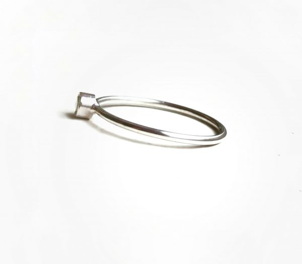 side view 3mm sterling silver ring by willow and stag jewellery