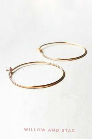 Sahara Gold Medium Hoop Earrings