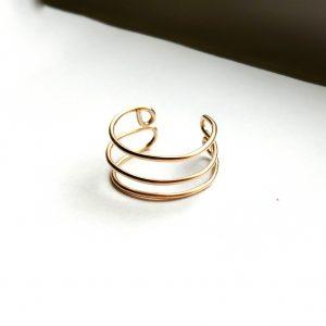 Triple Band Midi Ring