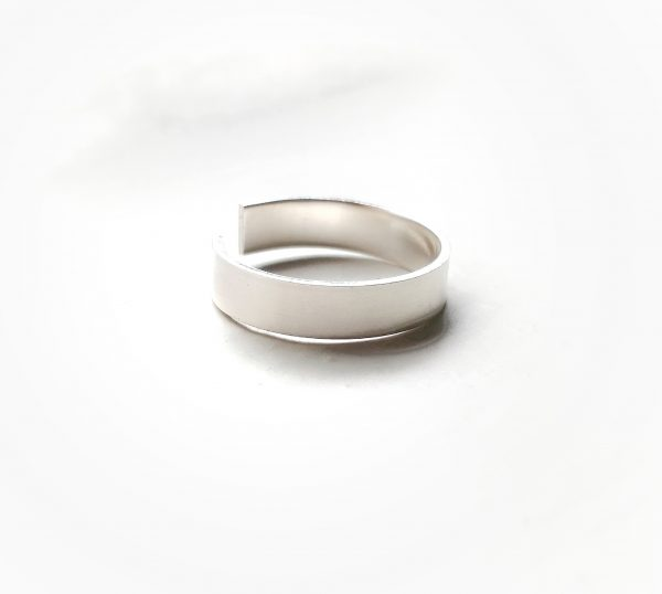 silver toe ring 4mm 1