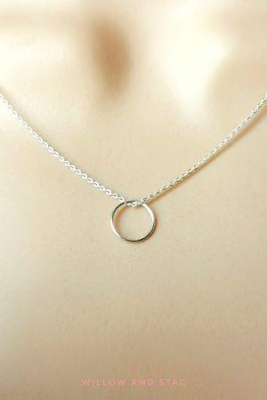 Mini Hoop Pendant Necklace