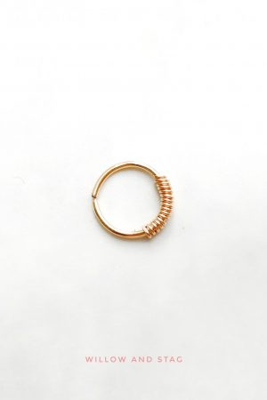 Gold Daith Hoop (Single)