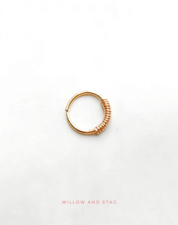 gold daith hoop earring 1