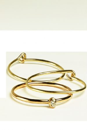 Dainty Gold Diamond Ring