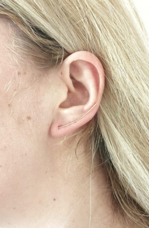 dainty gold ear climber 4