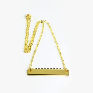name or initial bar necklace