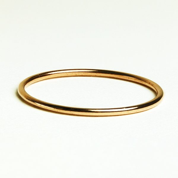 rose gold ring minimalist