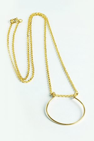 Simple Ring Holder Necklace- Gold Ring Keeper