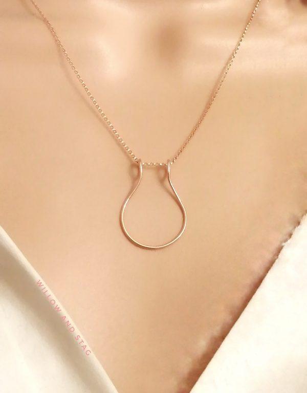 kew botanical pear necklace