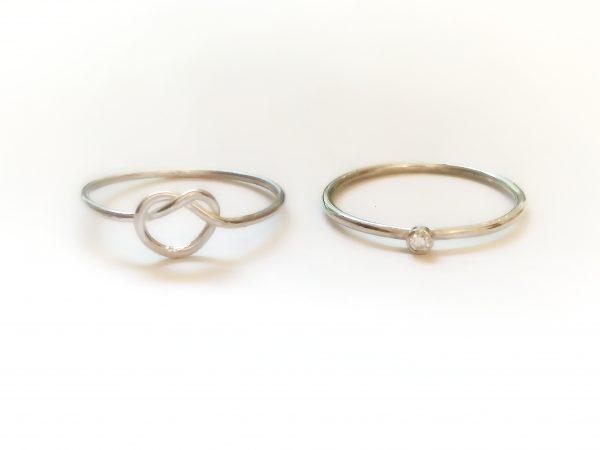 dainty promise & engagement ring set