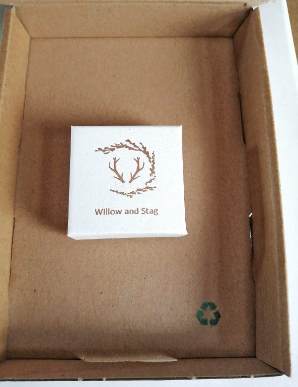 closed presentation box rose gold. willow and stag jewellery branded box
