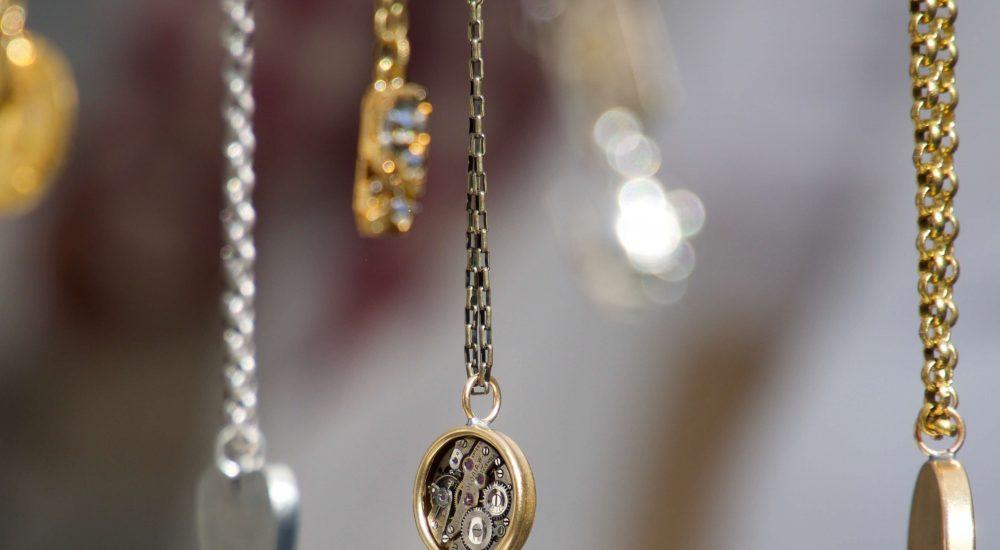 necklaces in row